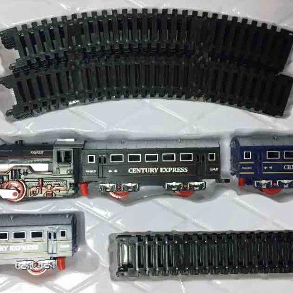 Залізниця для дітей HUASTAR 50783А, 18 деталей, на батарейках, світло, звук
