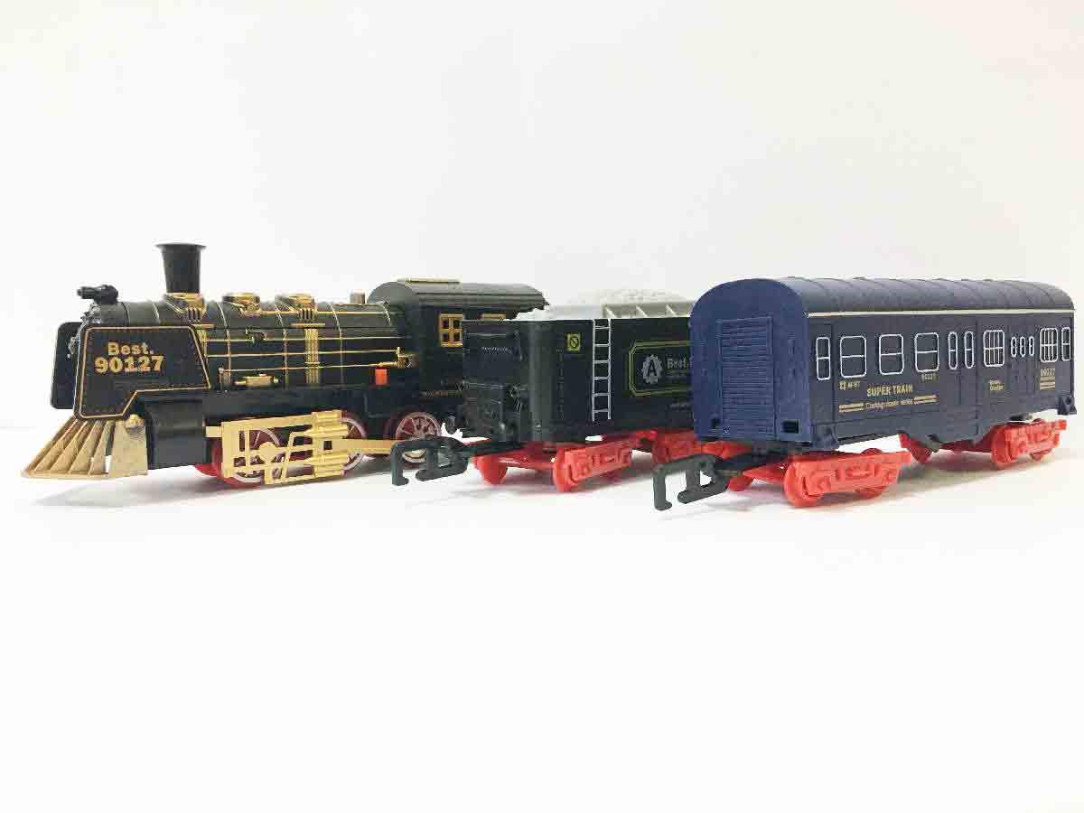 Залізниця HUASTAR 51059, 11 деталей, на батарейках,  звук, світло