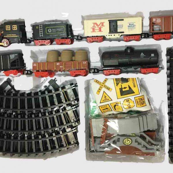 Залізниця для дітей HUASTAR 51058, 40 деталей, на батарейках, світло, звук