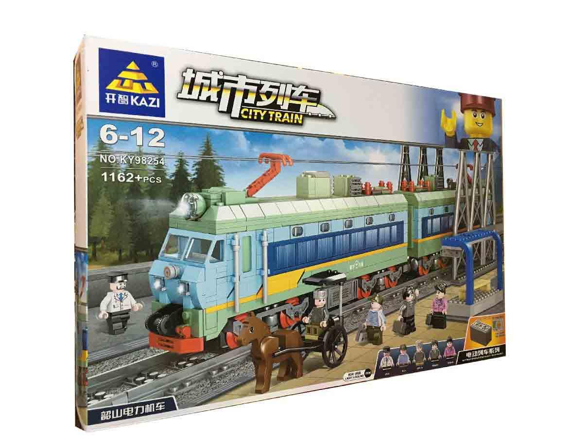 Конструктор Kazi 98254 Електричний потяг