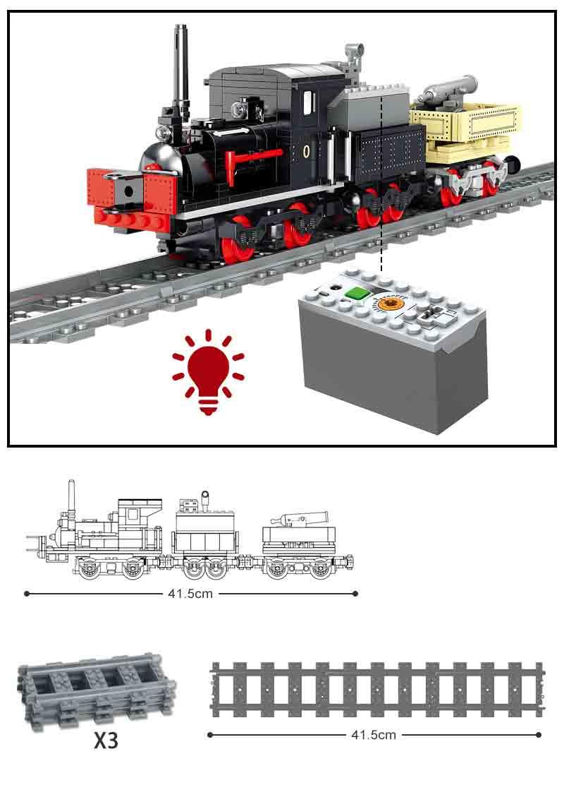 Конструктор Kazi 98255 Електричний потяг