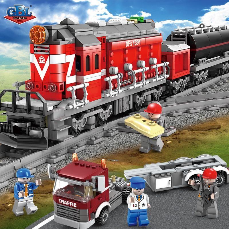 Конструктор Kazi 98219 «Грузовой поезд»