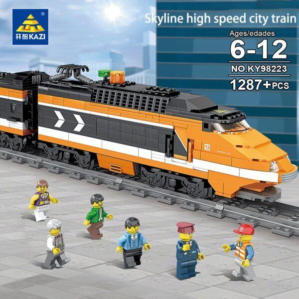 Конструктор Kazi 98223 «Пассажирский поезд»