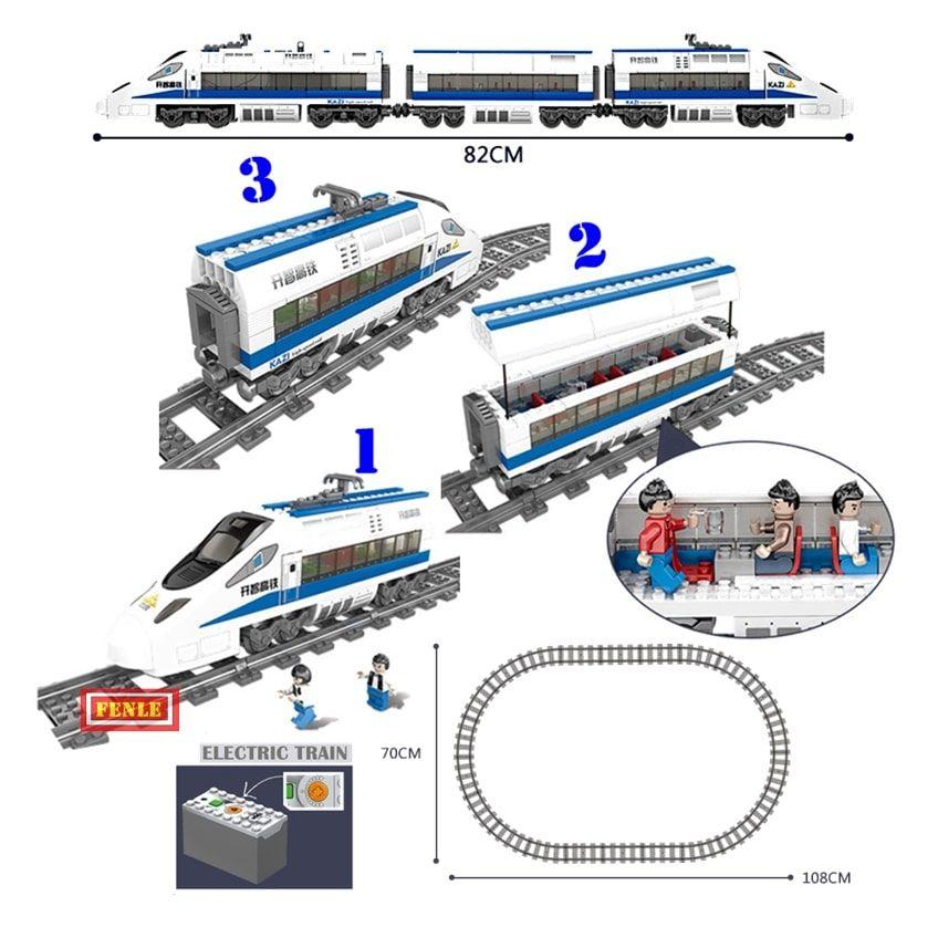 Конструктор Kazi 98227 «Скоростной пассажирский поезд»