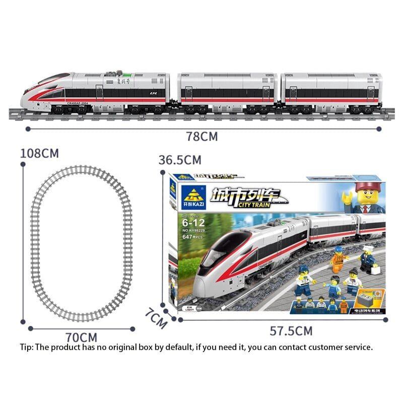 Конструктор Kazi 98228 «Швидкісний пасажирський поїзд»