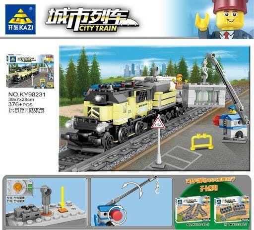 Конструктор Kazi 98231 «Вантажний поїзд»