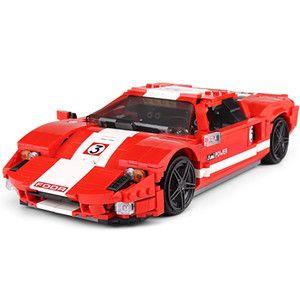 Конструктор Mould King 10001 Гоночный автомобиль Ford GTR Красный Фантом