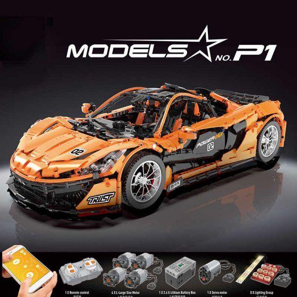 Конструктор MOULD KING 13090D «Гиперкар «McLaren P1», на дистанционном управлении