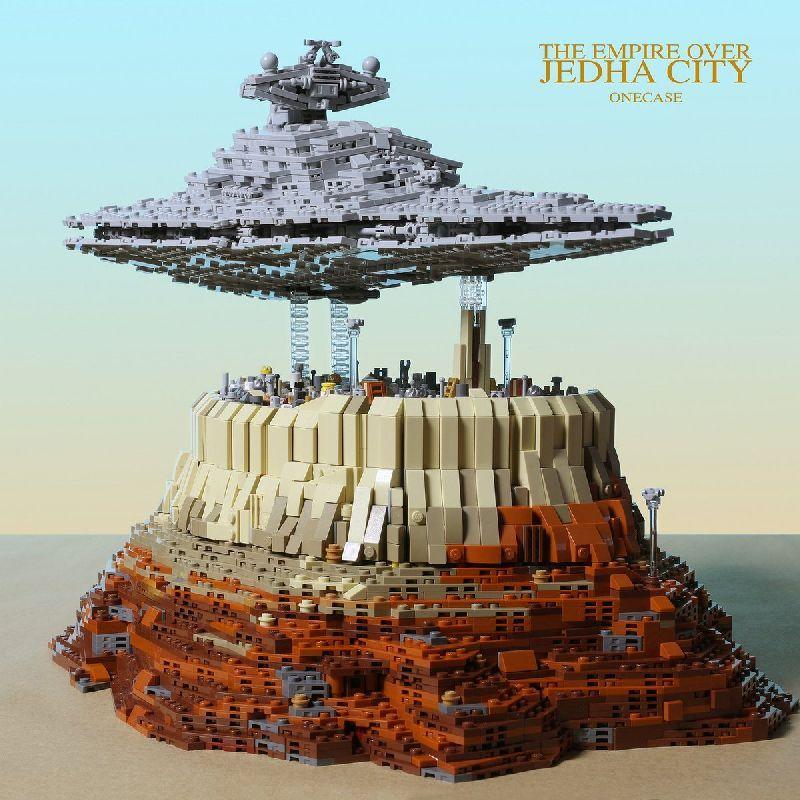 Конструктор Mould King Star Wars 21007 Имперский звёздный разрушитель над городом Джеда
