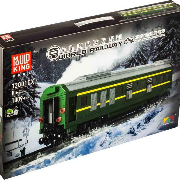 Конструктор MOULD KING 12001CX «Пасажирський вагон з електрогенератором для тепловоза NJ2»