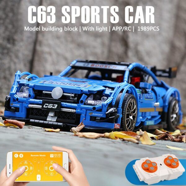 """Конструктор MOULD KING 13073 """"Спортивний автомобіль """"Mercedes Benz C63″ на радіоуправлінні"""""""