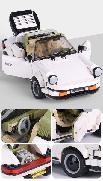 Конструктор Mould Kung Creative Idea 13103 «Спортивний автомобіль «White Porsche»