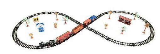 Железная дорога для детей HUASTAR 50276, на батарейках, 13 деталей, свет, звук