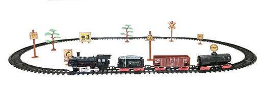 Железная дорога для детей HUASTAR 50781, на батарейках, свет, звук