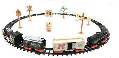Залізниця для дітей HUASTAR 50782, 24 детали, на батарейках, світло