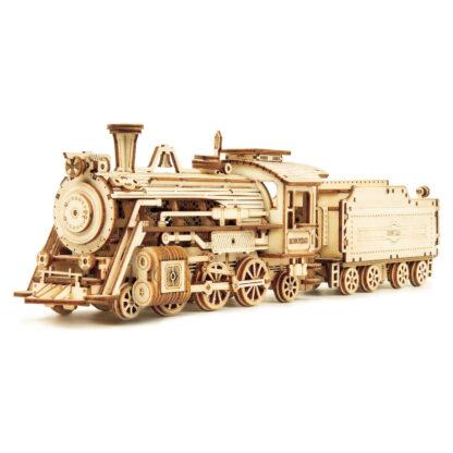 """Дерев'яний конструктор, 3D пазли Robotime MC501""""Ретро-поїзд"""""""