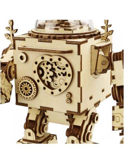 "Дерев'яний конструктор, 3Д пазли Robotime AM601 ""Орфей"" музична шкатулка"