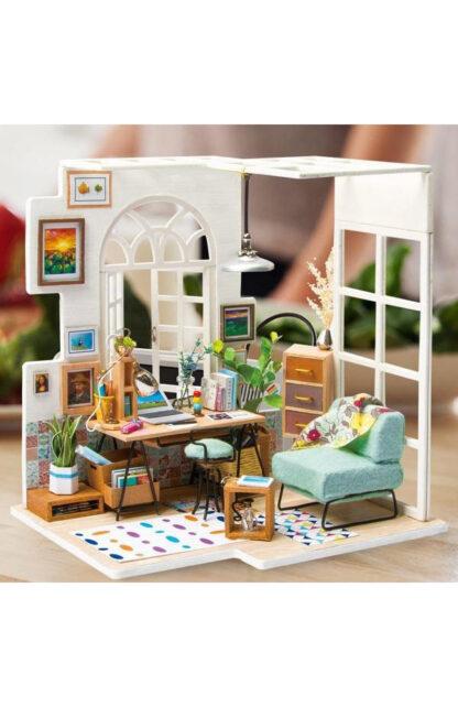 "Ляльковий будиночок своїми руками Robotime DGM01 ""Куточок для роботи"""