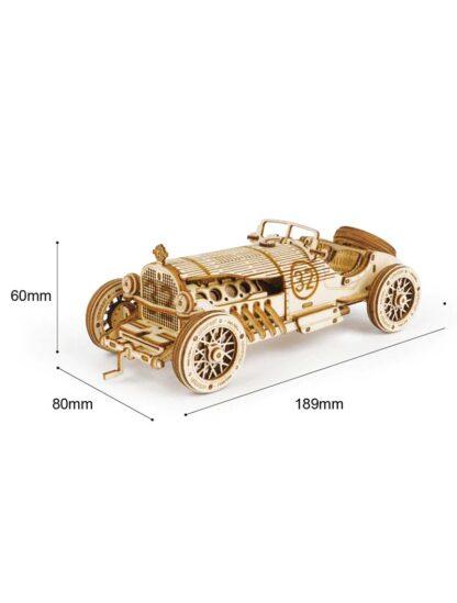 """Деревянный конструктор, 3D пазлы Robotime MC401 """"Автомобиль Гран-При"""""""