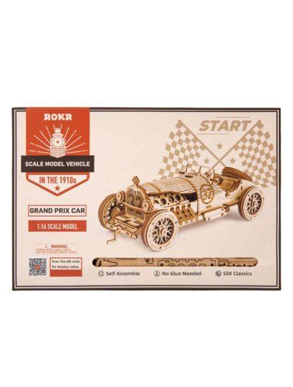 """Дерев'яний конструктор, 3D пазли Robotime MC401 """"Автомобіль Гран-Прі"""""""