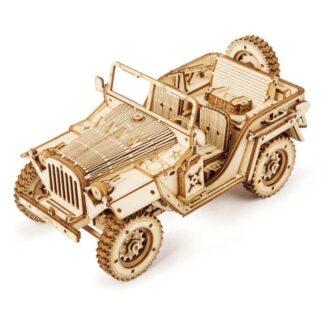 """Дерев'яний 3Д конструктор Robotime MC701""""Армійський джип»"""