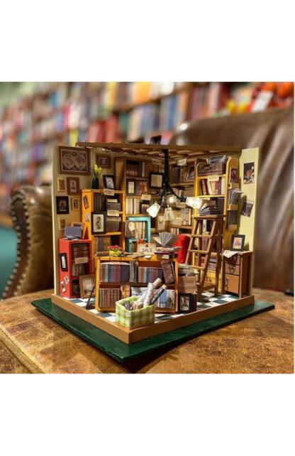 """Мініатюрний будиночок своїми руками Robotime DG102 """"Бібліотека (кабінет) Сема"""""""