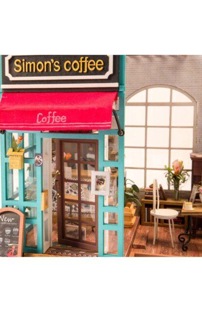 """Ляльковий будиночок своїми руками Robotime DG109 """"Кафе Саймона"""""""