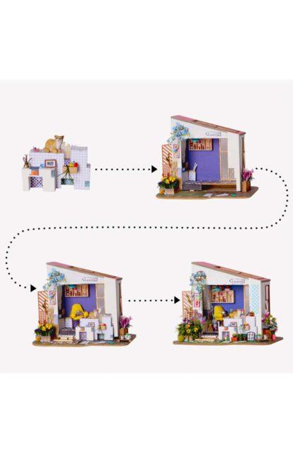 """Ляльковий будиночок своїми руками Robotime DG11 """"Ганок Лілі"""""""