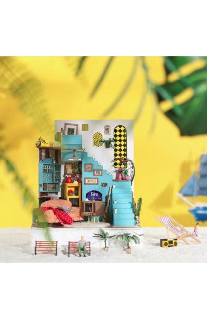 Ляльковий будиночок своїми руками Robotime DG141 «Вітальня Джоя»