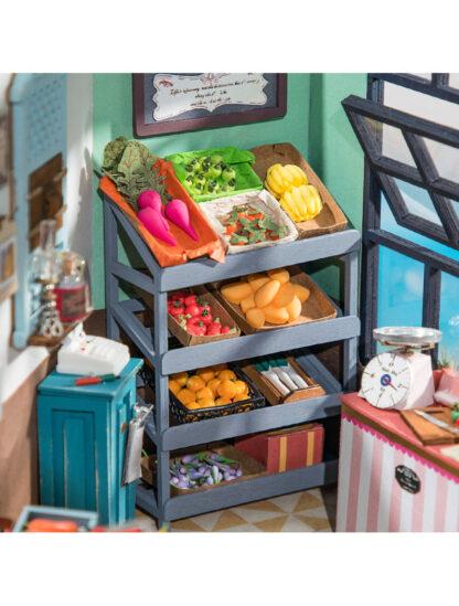 """Ляльковий будиночок Robotime DG142 """"Магазин фруктів Карла« Щасливий куточок"""""""