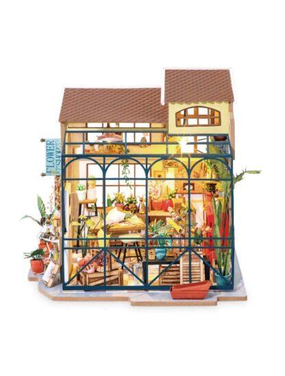 Мініатюрний будиночок своїми руками Robotime DG145 «Квітковий магазин Емілі»