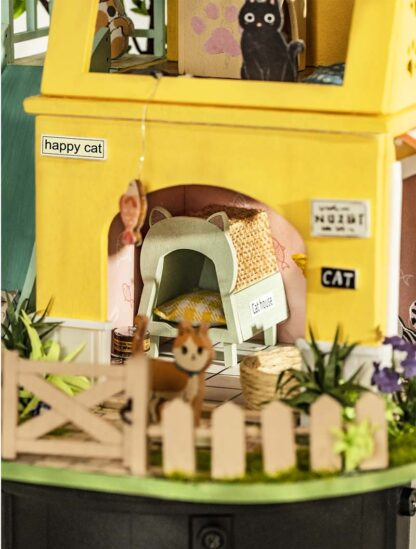 Ляльковий будиночок своїми руками Robotime DG149 «Дім для кішок»