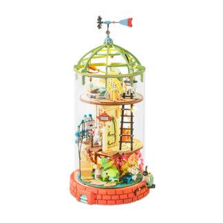 Ляльковий будиночок під скляним куполом Robotime DS001 Domed Loft DIY «У стилі лофт»