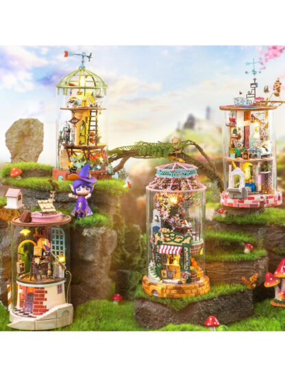 Ляльковий будиночок під склом Robotime DS002 Bloomy House DIY «Квітучий дім»