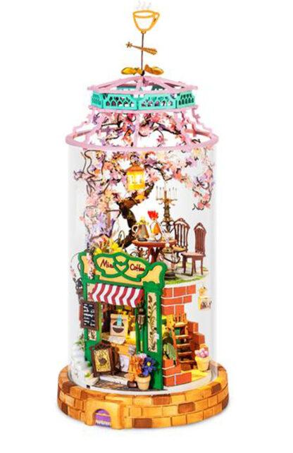 Ляльковий будиночок під склом Robotime DS004 «Чарівна кав'ярня» Magical Cafe DIY