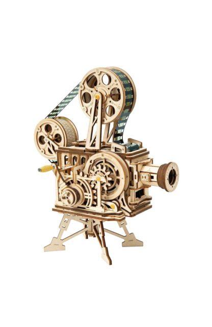Деревянный конструктор Robotime LK601 Vitascope Mechanical Movie Projector Kit