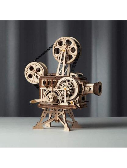 Дерев'яний конструктор Robotime LK601 Vitascope Mechanical Movie Projector Kit
