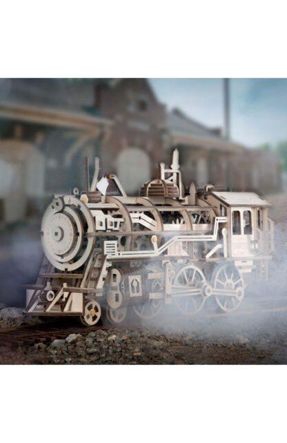 Дерев'яний 3D конструктор Robotime LK701 механічний локомотив