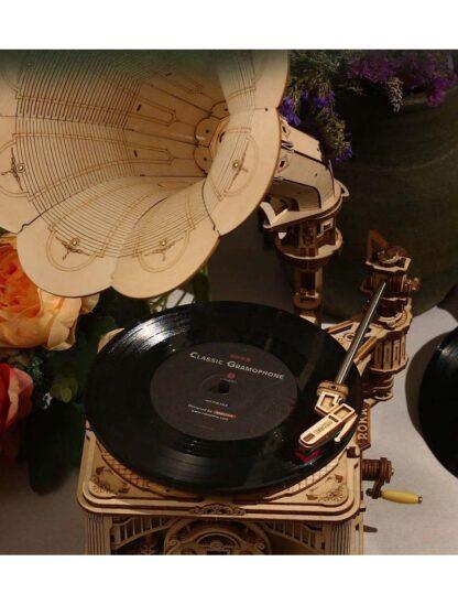 Robotime LKB01 дерев'яний конструктор DIY Crank Classic Gramophone
