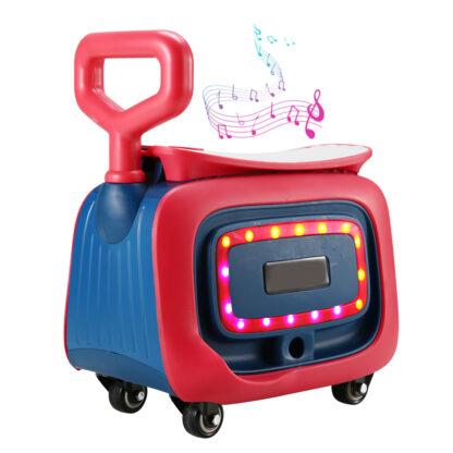 Музичний дитячий скутер HongDuo S8814 для найменших, чотири колеса, світлові ефекти
